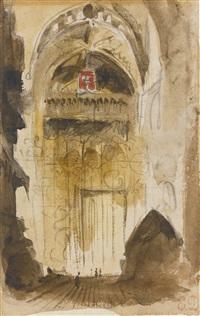 intérieur d'église andalouse by eugène delacroix
