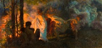 tanec u ohnì by vlacho bukovac