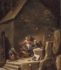 la tentation de saint antoine by david teniers the younger