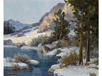 winter, high sierras by jack wilkinson smith