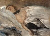 schlafendes mädchen by lovis corinth
