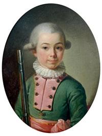 portrait d'enfant en petit officier by françois hubert drouais