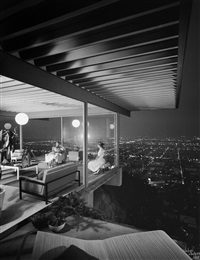 pierre koenig, case study house #22, los angeles, ca by julius shulman
