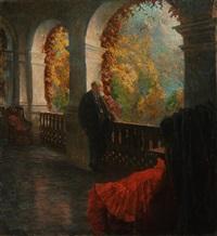 der chirurg theodor billroth auf seiner terrasse in sankt gilgen, wolfgangsee by ferdinand dorsch