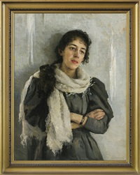 portrait of the fiancee by casimir stabrovsky