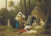 el hiasseub, conteur arabe by gustave clarence rodolphe boulanger