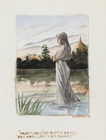 maiden wait, the ripple saith... by edward hopper