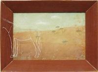sin título (paisaje con plástico y burro) by francis alÿs