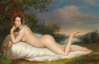 female nude in a woodland landscape by anonymous (19)