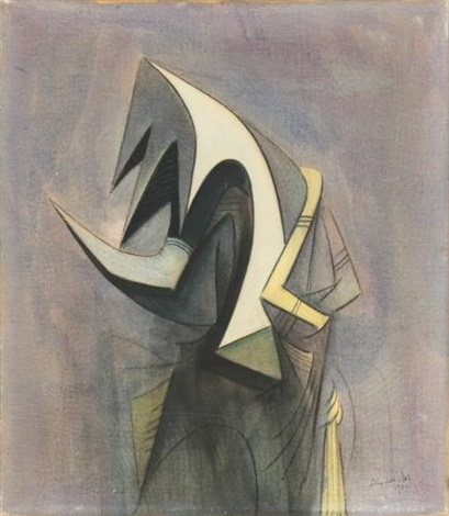 untitled figura vegetal by wifredo lam
