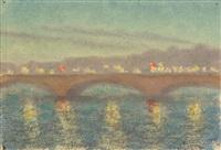 le pont la nuit, paris by charles lacoste