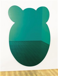 bear (green) by jeff koons