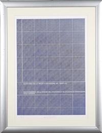 diagramma dello spazio = deposizione by vincenzo agnetti
