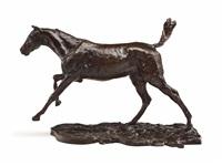 cheval au galop sur le pied droit by edgar degas