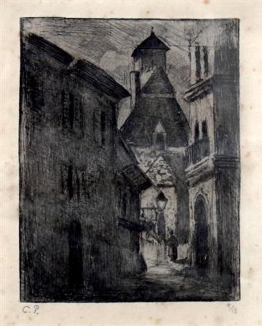 petite rue nationale à rouen by camille pissarro
