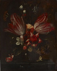 bouquet de fleurs sur un entablement by jan pauwel gillemans the elder