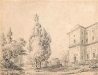 la villa farnese à caprarola by hubert robert