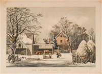 the farmers home - winter by currier & ives (publishers)