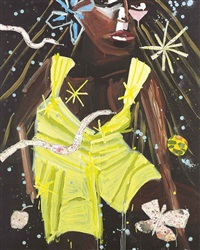 naomi in the garden by katherine bernhardt