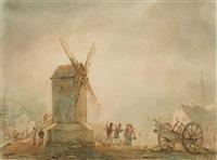 devant le moulin by baron jean antoine théodore gudin