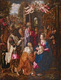l'adoration des mages by hendrick de clerck