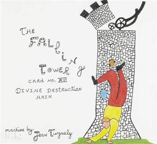 the falling tower carte n° xvi by niki de saint phalle