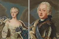porträtt föreställande adolf fredrik och lovisa ulrika (pair) by jonas akerstrom