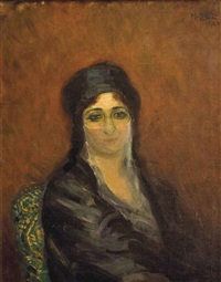 portrait de mme sherifa riad by mahmoud said