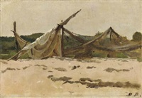nets and sails drying by dennis miller bunker