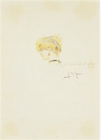 testa femminile di profile by alberto la monaca