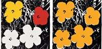 "andy warhol ""flowers"" 1965 (2 works) by richard pettibone"