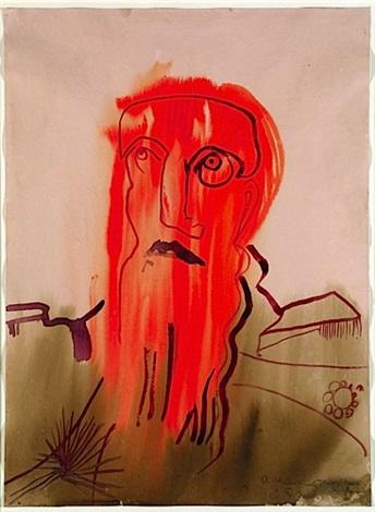 portrait dhomme en colère by rokni haerizadeh
