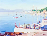 gourock bay, evening by norman edgar