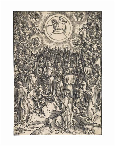 the adoration of the lamb, from: the apocalypse by albrecht dürer