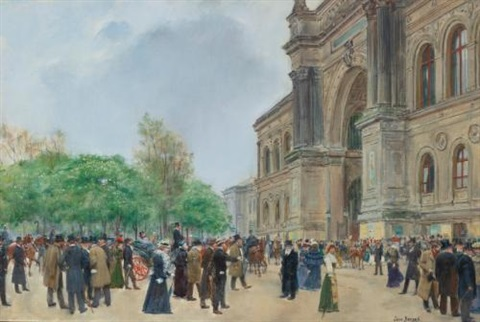jour douverture au salon the opening day of the salon by jean béraud