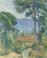 vue sur l'estaque et le château d'if by paul cézanne
