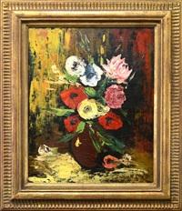 still life, flowers in a vase by louis ritman