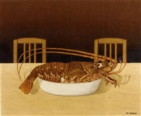nature morte avec langouste by dominique paul peyronnet