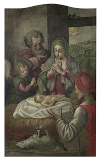 the adoration of the shepherds by andrea boscoli