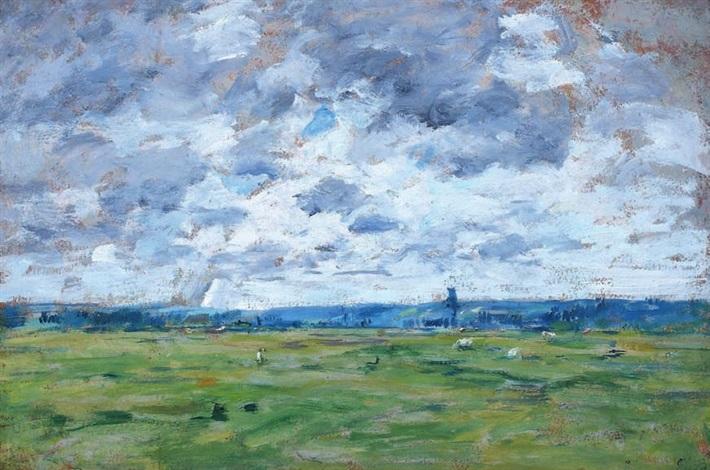 paysage normand by eugène boudin