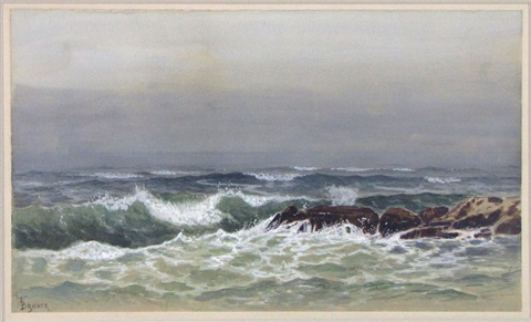 shoreline seascape by alfred thompson bricher