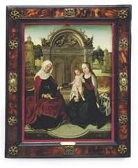 madonna and child with saint anna by hans memling