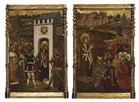 saint jean - baptiste prêchant et saint jean - baptiste conduit en prison (pair) by juan de la abadia