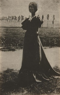 florence (standing woman, long dress) by gertrude kasebier