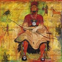 untitled (seated warrior) by stan natchez