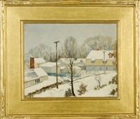 winter at snug rock by wells m. sawyer