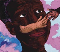 at times the image seemed bigger than life by robert h. colescott