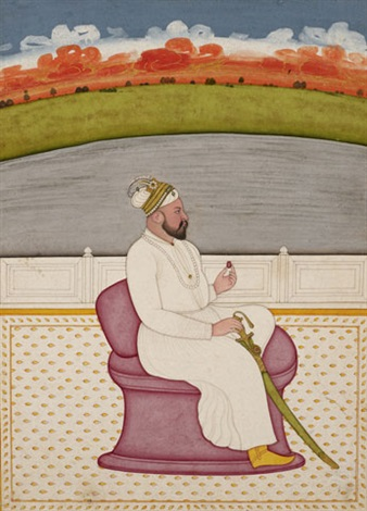 portrait of an unidentified ruler by anonymous indian
