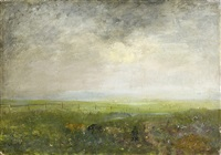 paysage avec troupeau by antoine chintreuil
