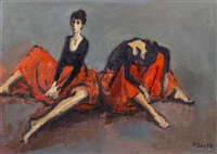 the dancers by moses soyer
